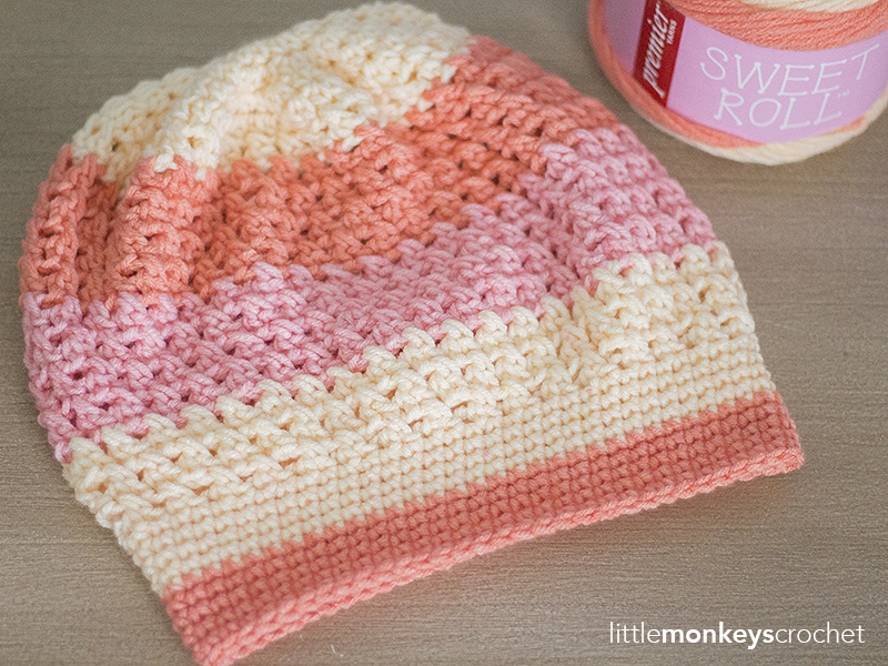 Sweet Roll from Premier Yarns | A Yarn Review by Little Monkeys Crochet