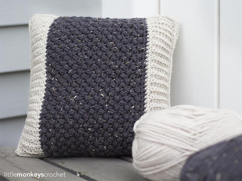 Bean Stitch Accent Pillow Little Monkeys Crochet