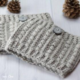 Malia Boot Cuffs | Winter Boot Cuffs Crochet Pattern by Little Monkeys Crochet | Malia CAL 2017