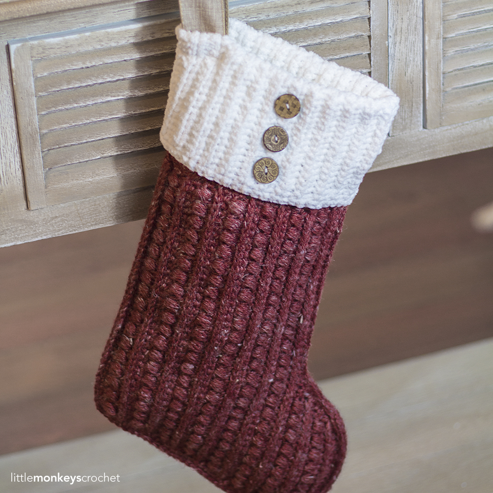 Malia christmas stocking little monkeys crochet but i am so going be ready for next year thanks to this new pattern the malia christmas stocking bankloansurffo Image collections