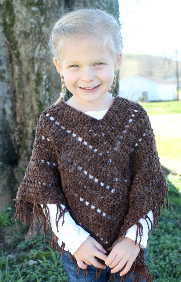 Crochet Pattern - Boho Poncho Little Monkey' Design