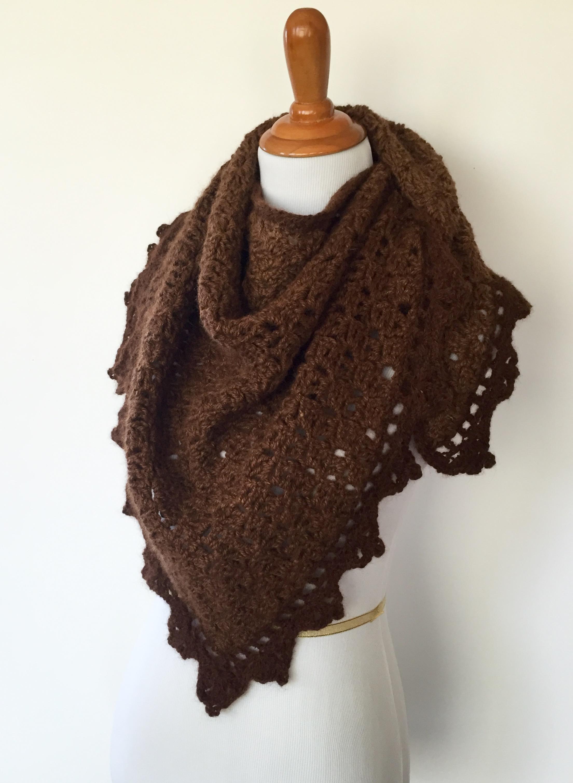 Triangle Shawl Crochet pattern by Little Monkeys Designs