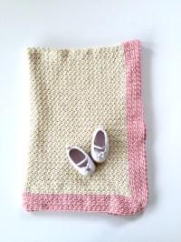 Organic Cotton Baby Blanket by Little Monkeys Design