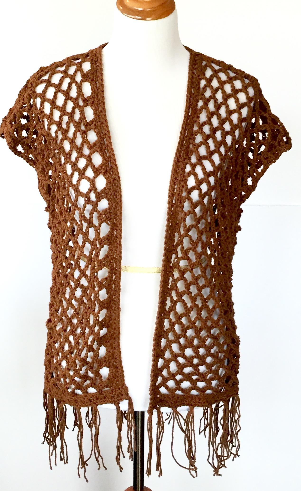 Hannah Kimono crochet pattern by Little Monkeys Design