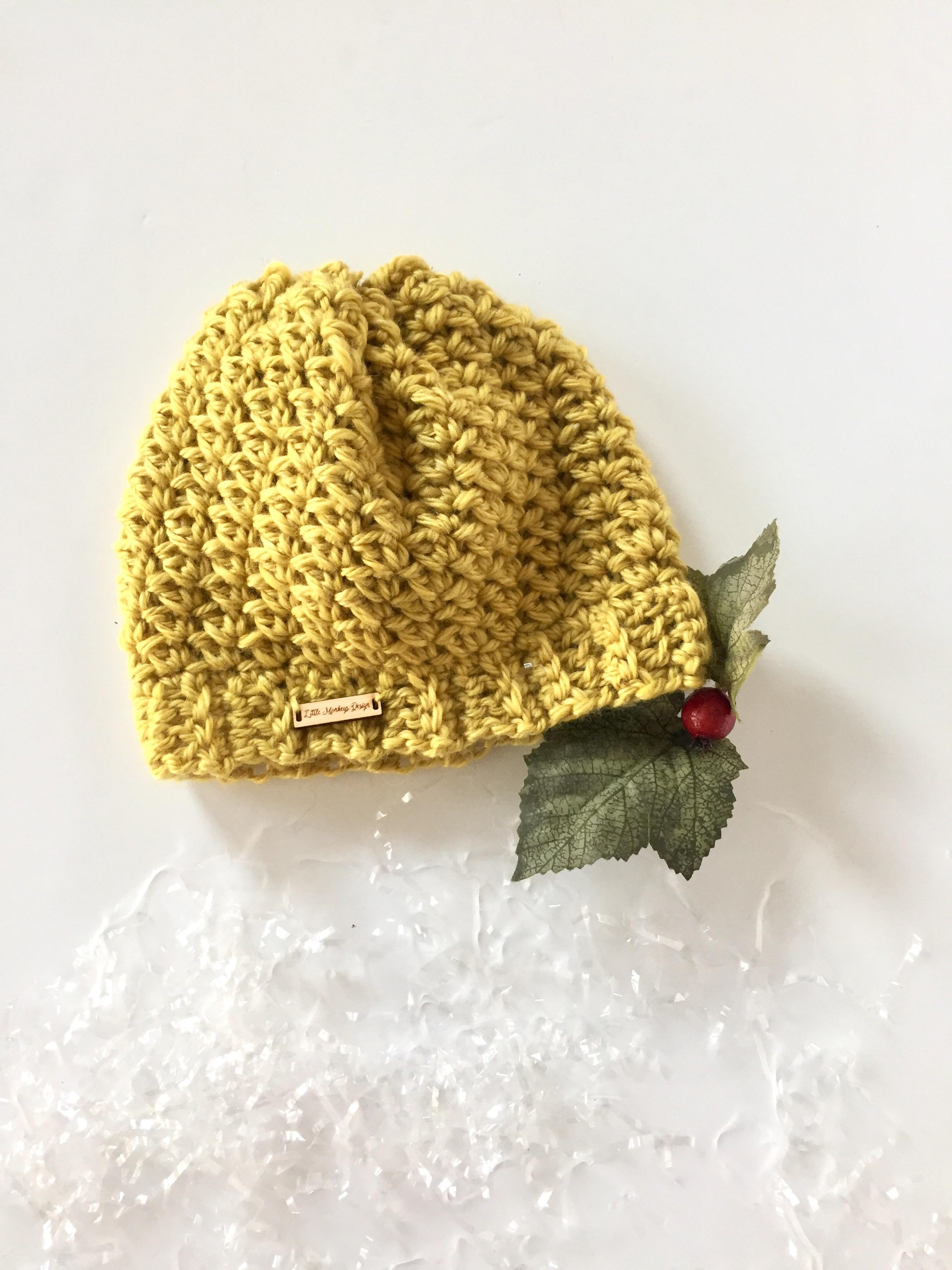 Let It Snow Crochet Hat Pattern by Little Monkeys Designs