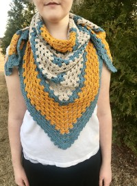 A Sunny Day Triangle Shawl Crochet Pattern by Little ...