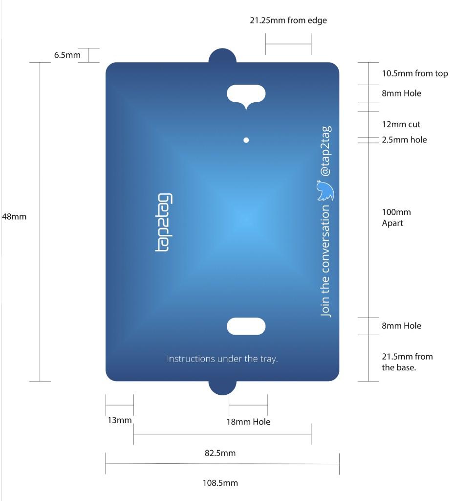 showcase basic blue tray
