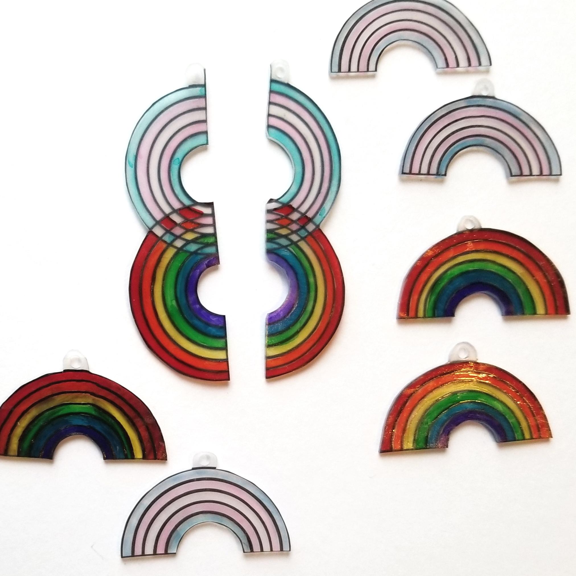 Pride earrings, shrunk