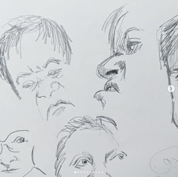 Facial expression sketches