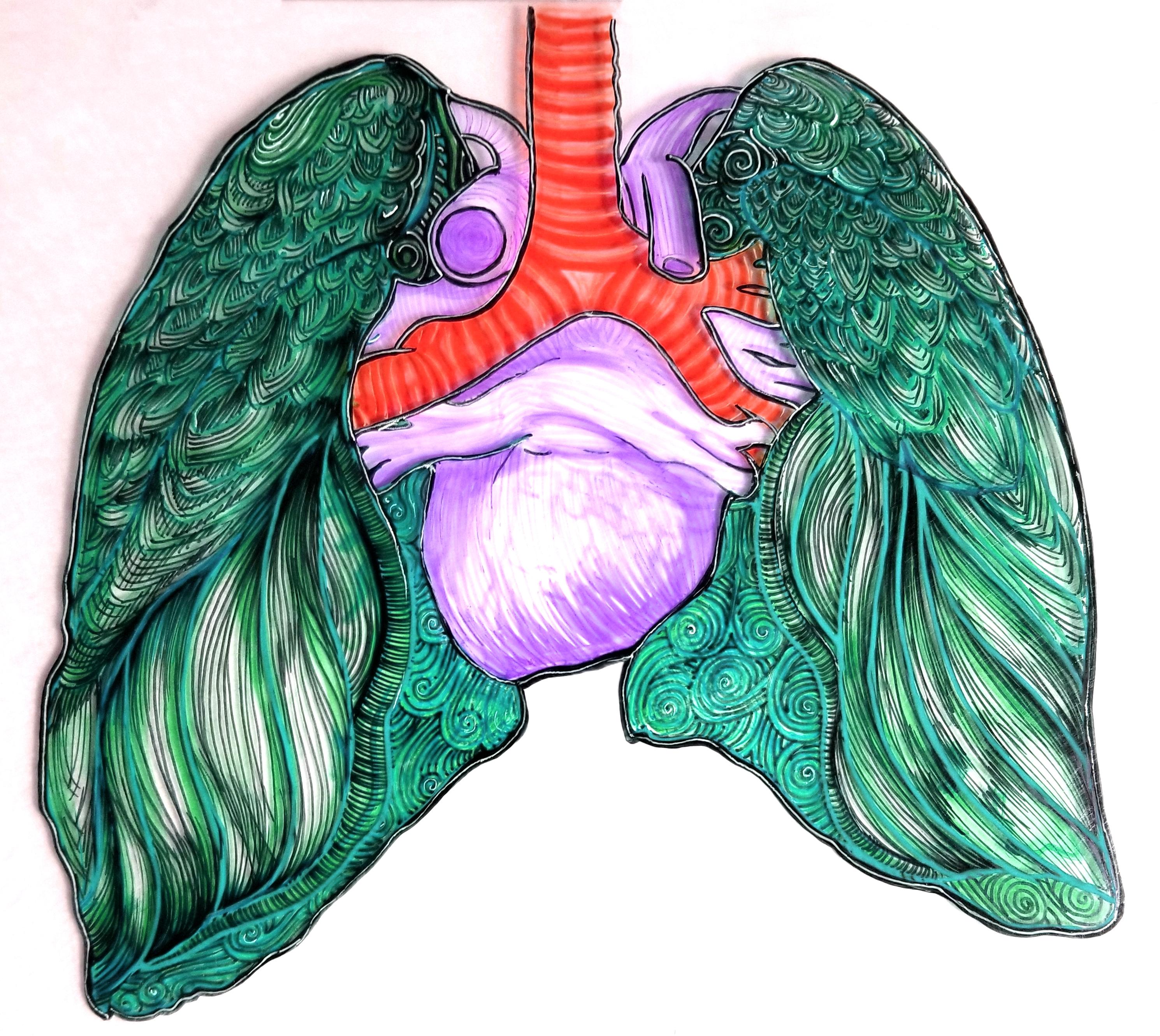 Green Lung, purple heart