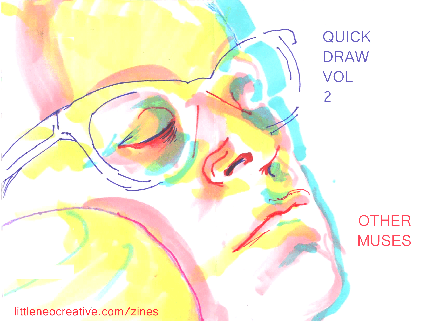 QUICK DRAW VOL 2 - OTHER MUSES - pages 1 and 8 COVER