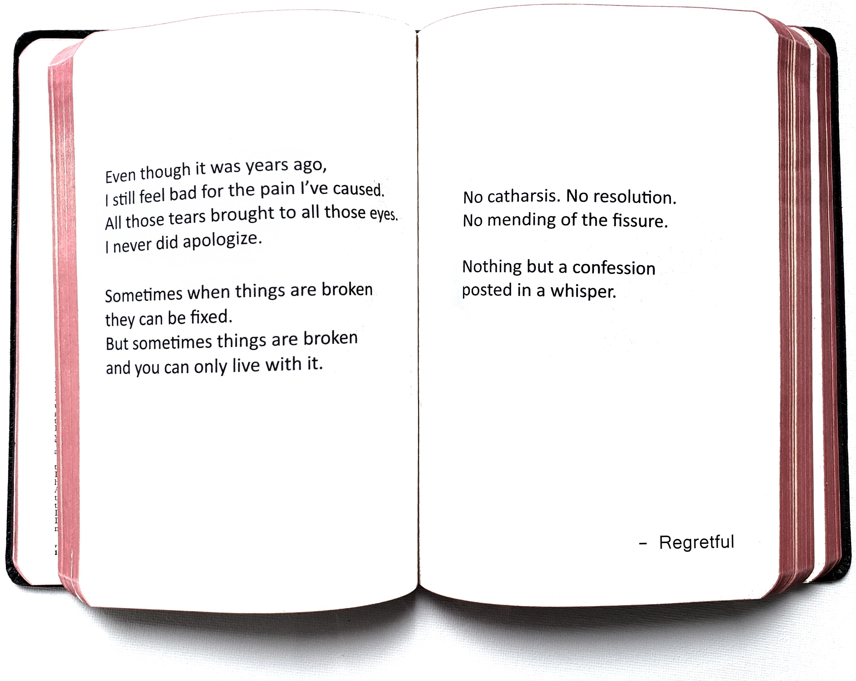 whisper zine, regret