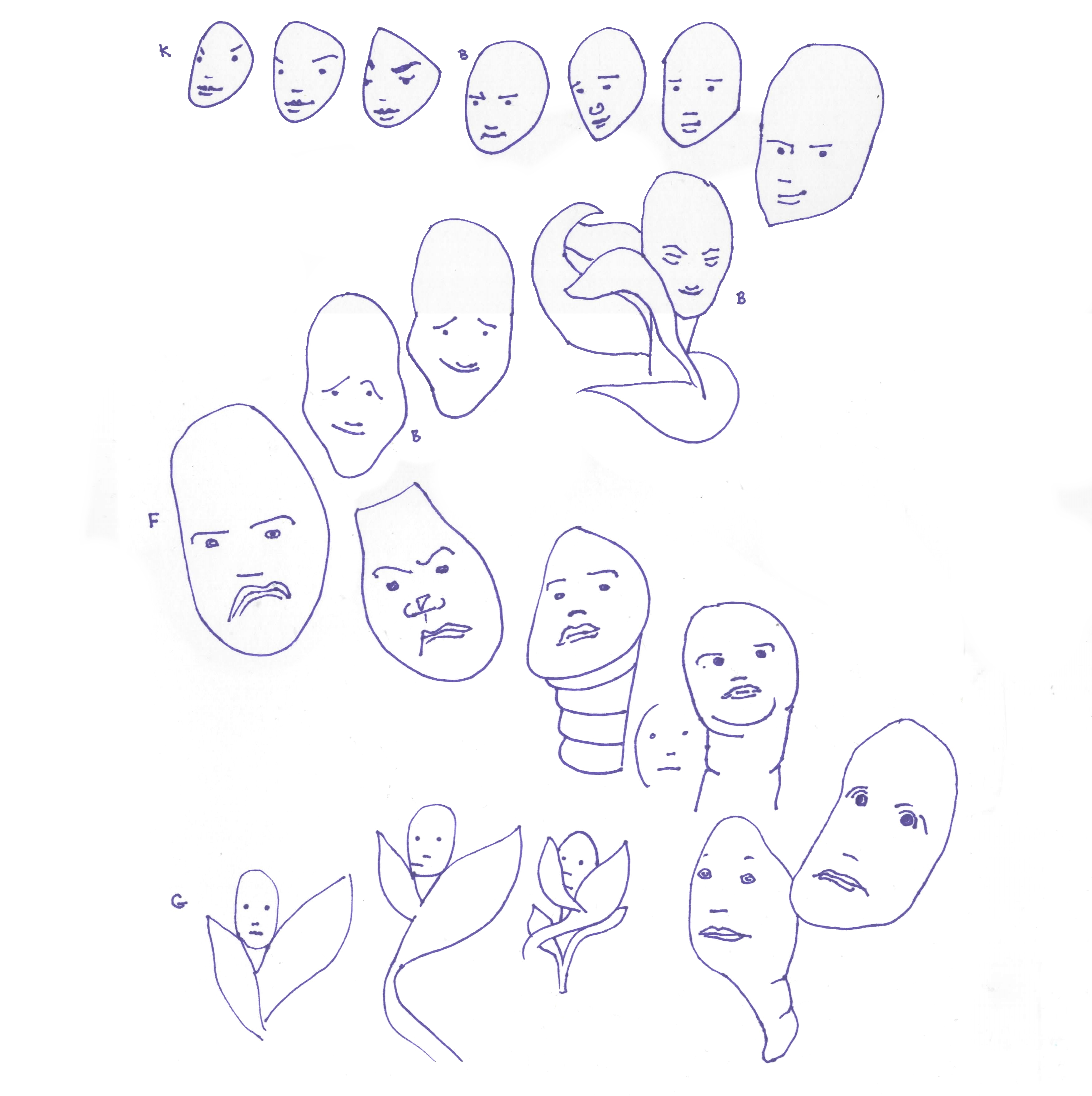 plant people faces only