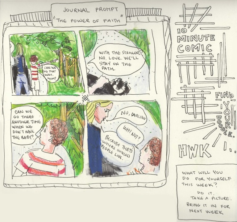 2021 07 20 Prompt 2 Write On Journal Prompt 10 Minute Comic Journal Prompt about Paths