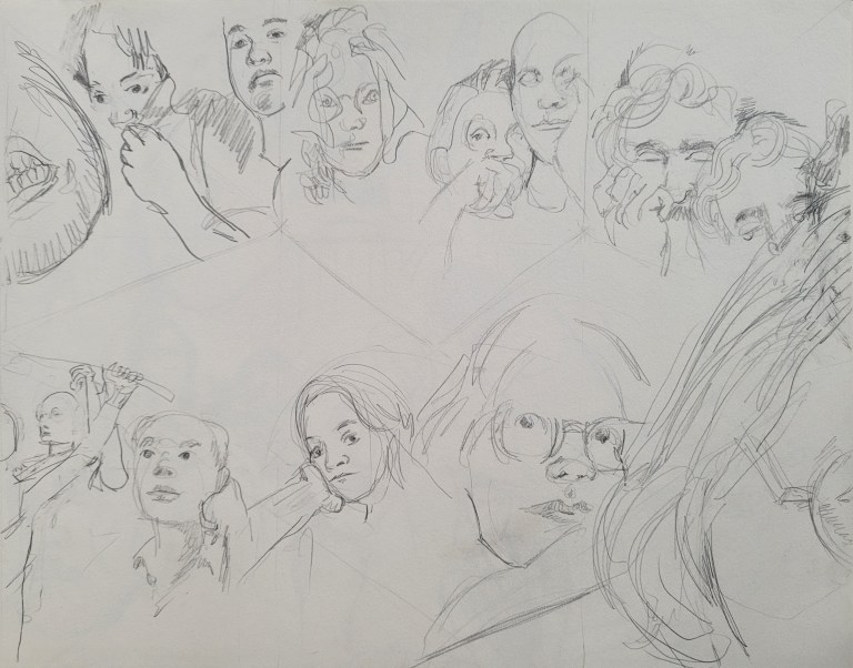 One minute portrait - Composition Framing and Implied Triangles