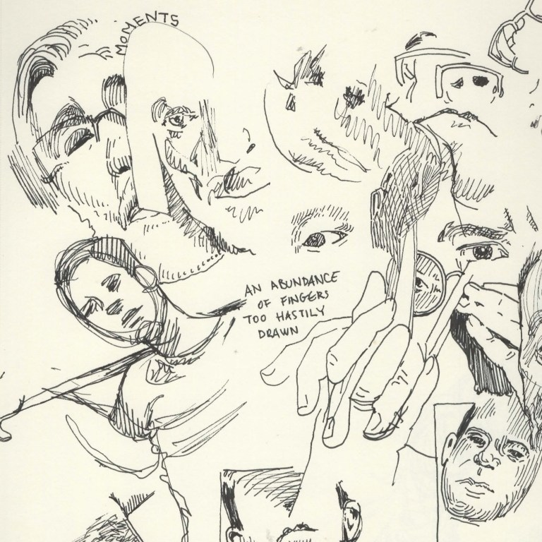 quick sketches faces and poses