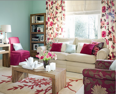 pink and aqua living room Colour | little Nudge