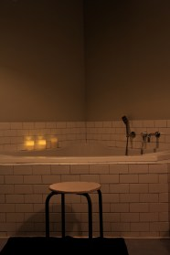 I. Love. This. Picture! I picture myself laboring in the tub while Josh sits on the stool massaging my shoulders.