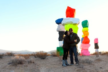 Seven Magic Mountains, an art installation located in Henderson, NV.