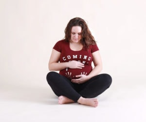 Picture Perfect Skin, sitting, maroon shirt