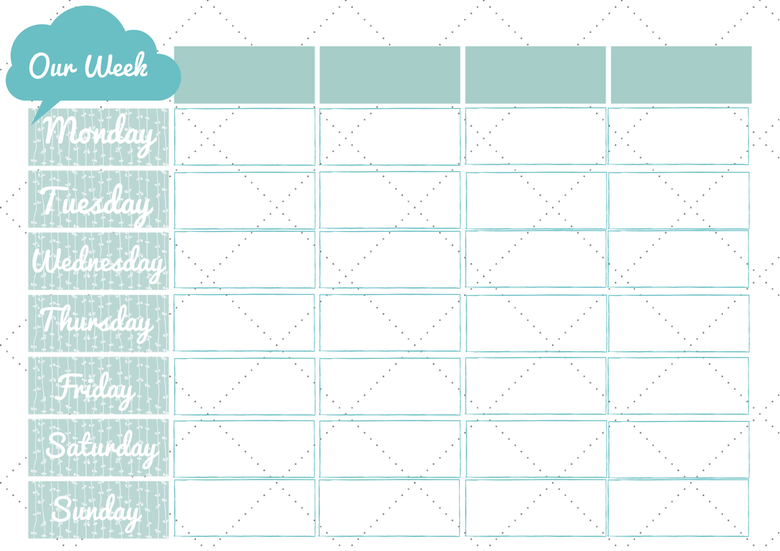 New 228 Printable Family Weekly Planner