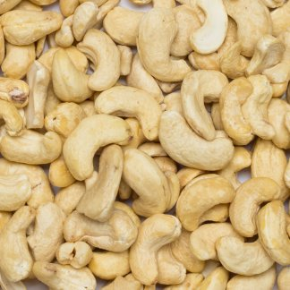 Close up of cashew nuts organic.
