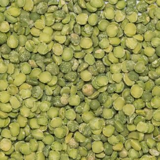 close up of Green Split Peas Organic