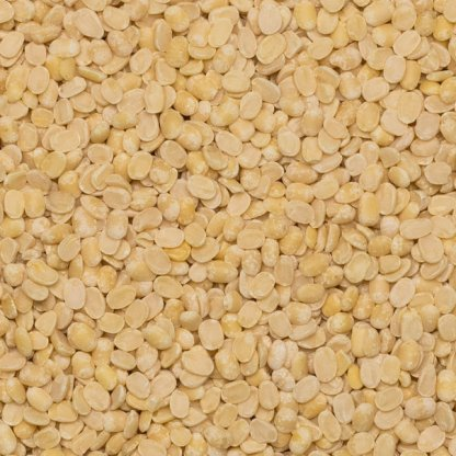 close up of Lentils White Split Organic