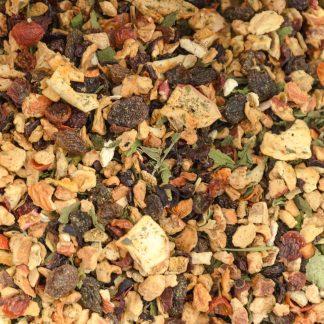 Tea Pomegranate Mint Organic, organic pomegranate tea, mint tea, pomegranate tea, mint and pomegranate tea, loose pomegranate and mint tea.