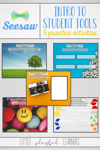 Seesaw Question of the Day: activities to introduce students to the Seesaw Tools