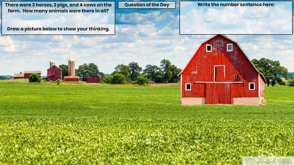 Seesaw: Story problem - farm theme