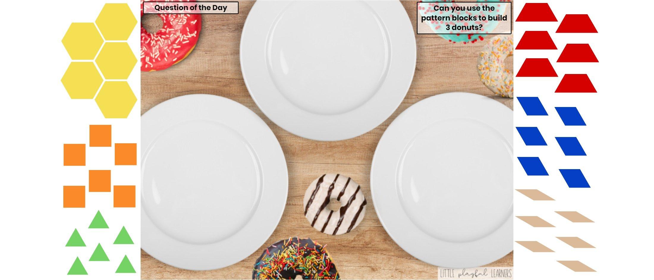 Seesaw: Pattern block challenge - donut theme