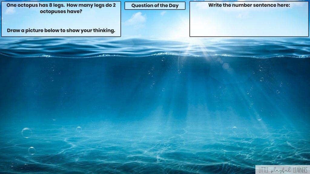 Seesaw: Story problem - ocean theme