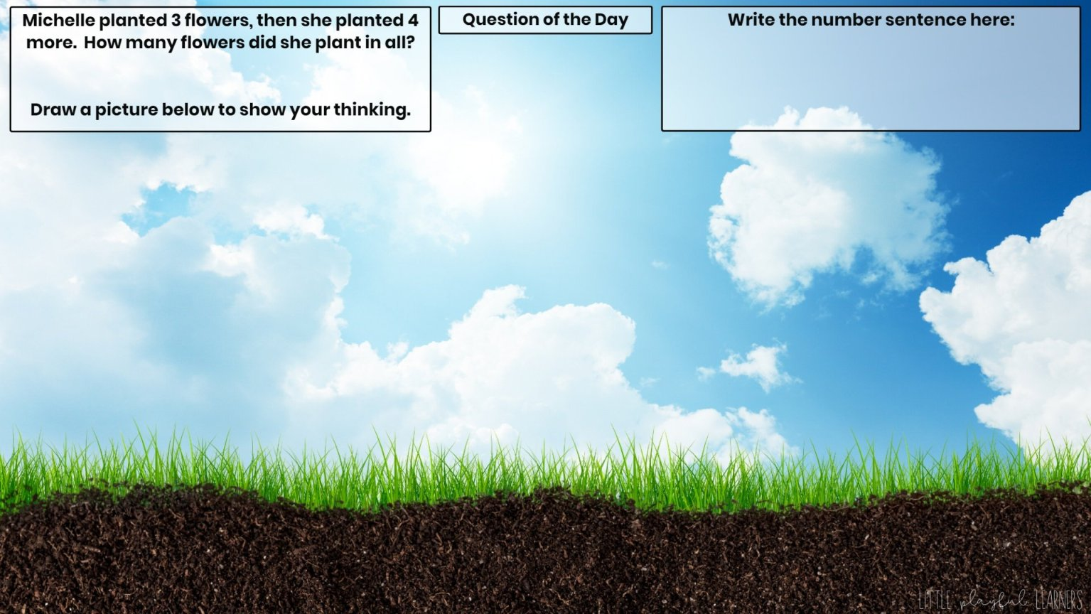 Seesaw: Story problem - seeds/plants/trees theme
