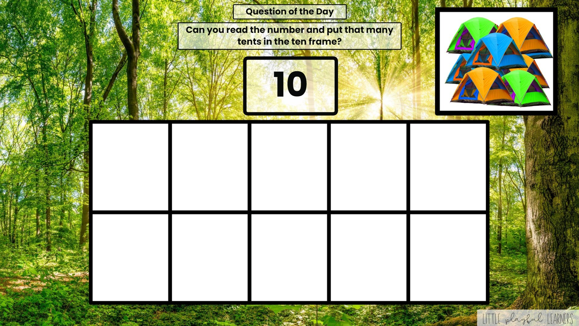Seesaw: Counting and Number ID - camping theme