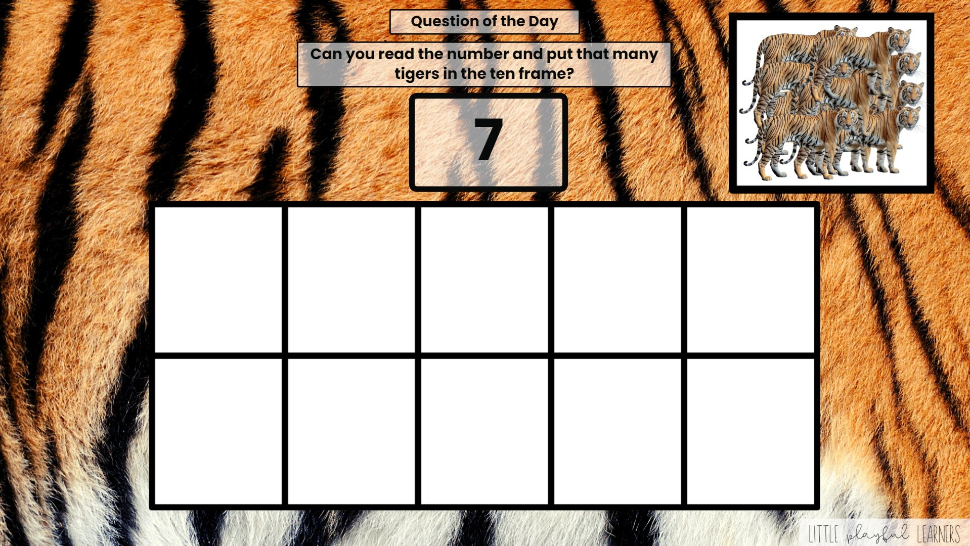 Seesaw: Counting and Number ID - zoo animal theme