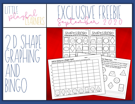 MEGA BUNDLE Freebie#3: 2D Shape Graphing & Shape Bingo Printables