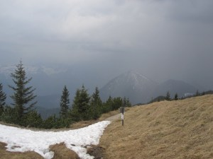 storm clouds during hike