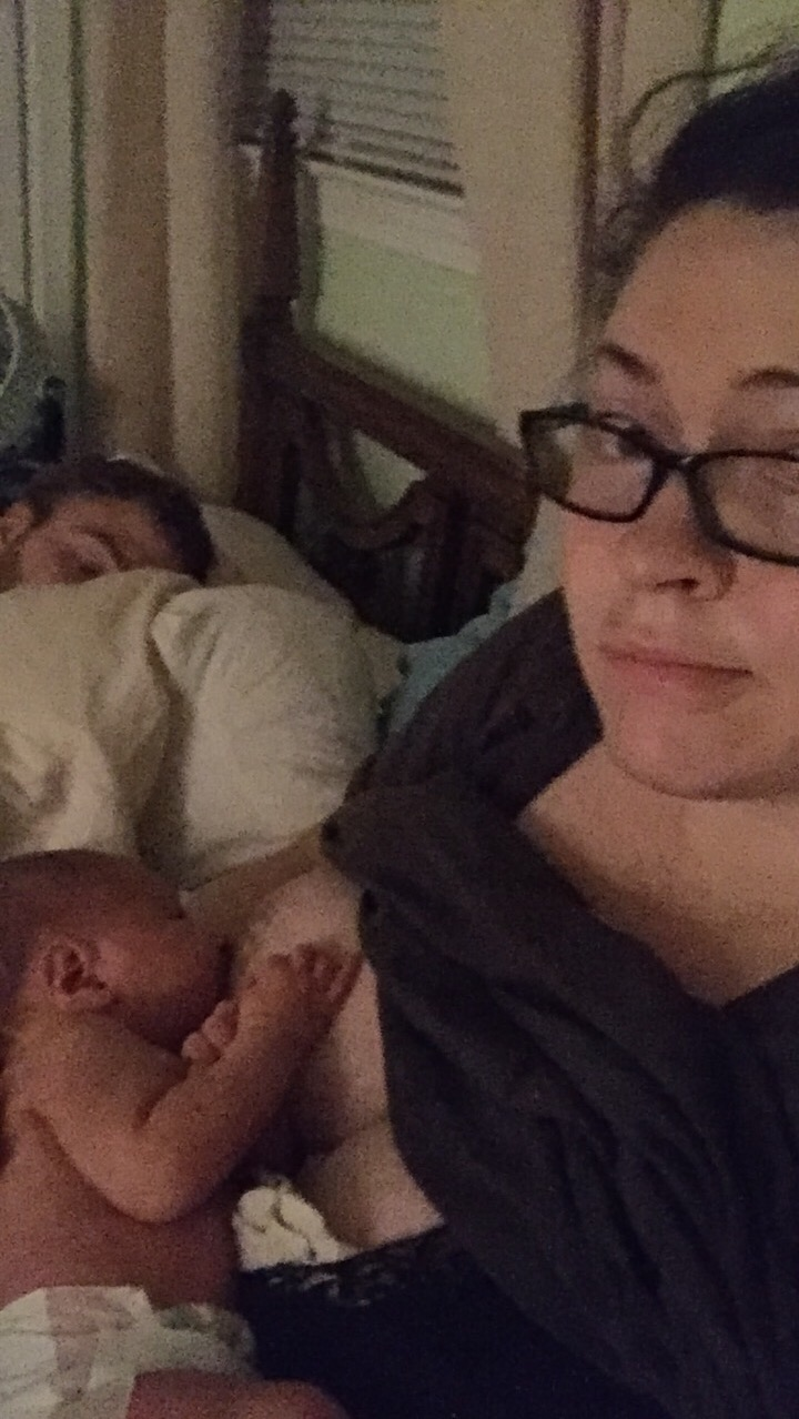 Newborn nursing infant breastfeeding