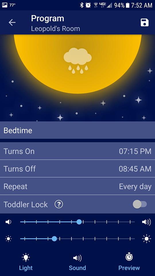 hatch baby rest nightlight bedtime