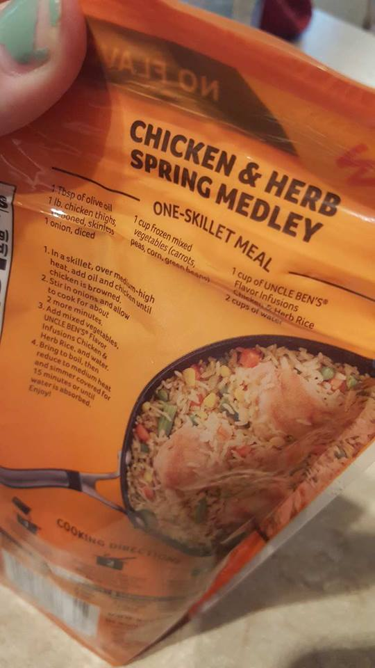uncle bens- rice-one skillet meals-