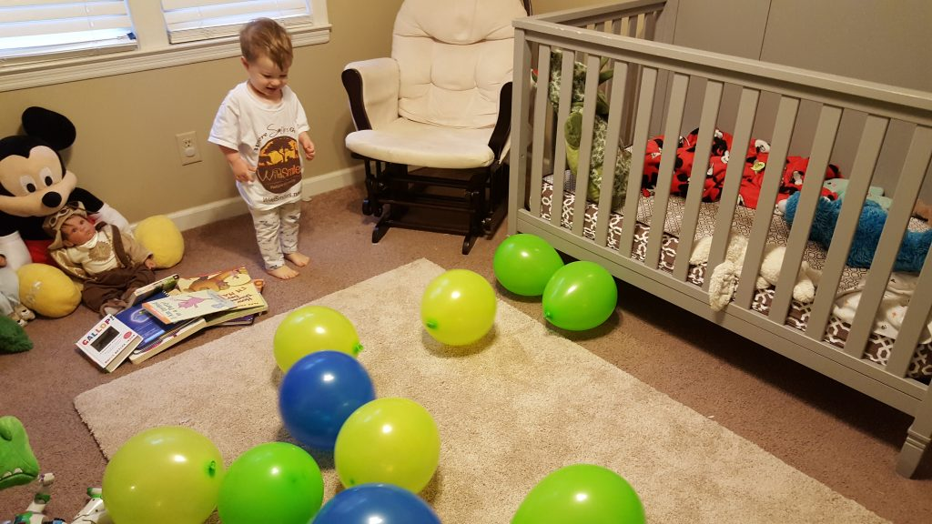 second birthday traditions-turning two-party balloons