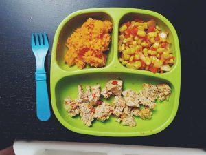turkey meatloaf-corn-mashed yams-nurturelife-toddler meals