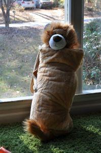 lion buddy bag-sleeping bag for toddlers