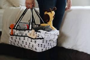 diaper caddy-infant storage-baby bag