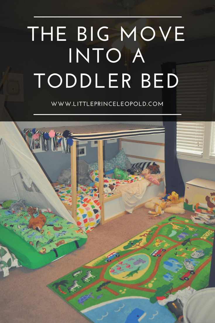 moving to a toddler bed-big boy bed-ikea kura