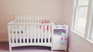 delta children-convertible crib-changing table-