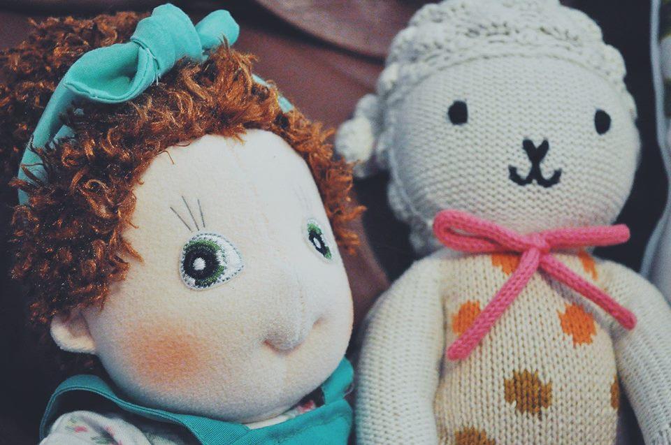 nursery-flamingo room-flamingo nursery-girl room-accent wall-cuddle and kind-rubens barn-stuffed toys