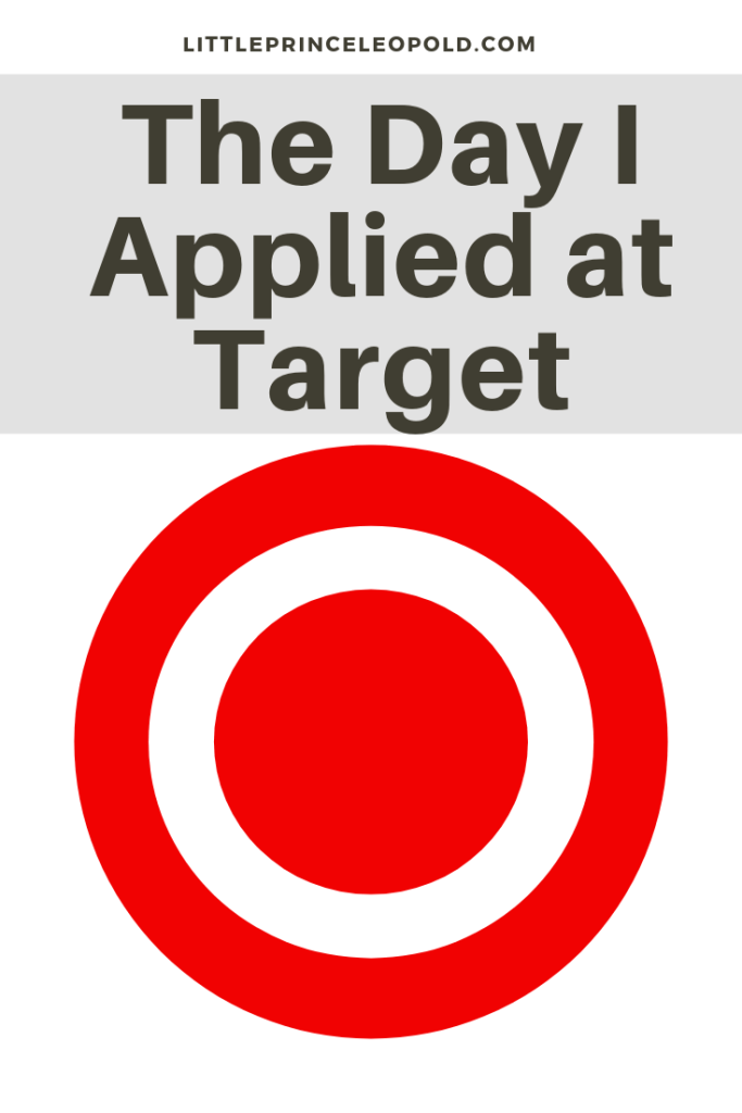 target employee-job application-stay at home mom