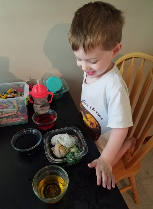 color mixing activity for toddlers